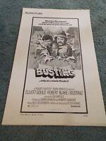 BUSTING(1974)ROBERT BLAKE ORIGINAL PRESSBOOK