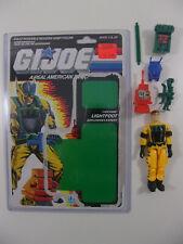 GIJOE 1988 Explosives Expert LIGHTFOOT Complete Full uncut Filecard G.I. JOE