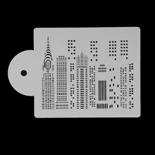 Plastic High Buildings Cake Stencil Airbrush Painting Art Mold Cookies MoldWRYB