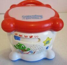 """Learning Drum--6"""" Tall-Leap Frog-2001-Sings-Music-Lights-Alphabet"""