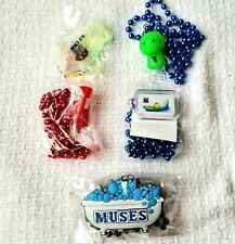 Krewe of Muses Lot of 5 Signature Beads Light Up Mardi Gras New Orleans Throws