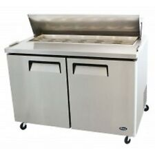 """Atosa Msf8302 Commercial 48"""" Stainless Steel 2 Door Sandwich Prep Table"""