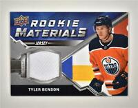 2020-21 UD Series 2 Rookie Materials Relic #RM-TB Tyler Benson RC