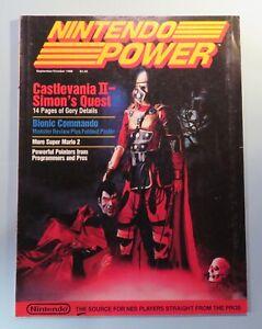 Nintendo Power Magazine 1988  #2 Featuring NES Castlevania II Complete Nice