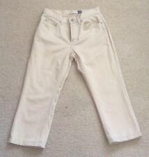 * Need $ SALE * GAP Beige Khaki Boot Cut Satiny Finish Capris Pants Size 1