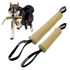 Young Dogs Bite Tug Jute Training Toy with Handle for Mastiff Bulldog Rottweiler