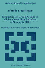 Parametric Lie Group Actions on Global Generalised Solutions of Nonlinear PDEs: