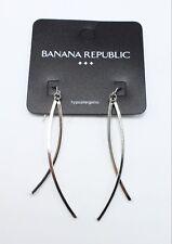 New Pair Silver Dangle Earrings by Banana Republic #BRE42