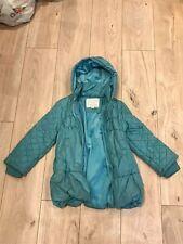 Girls Turquoise Monsoon Coat Aged 9-10 Years (bundle No 39)