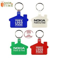 Custom House Shape Key tag Printed With Your Logo / School Name / Text - 100 Qty