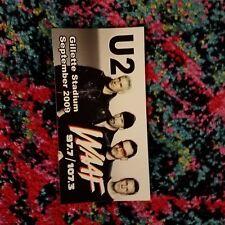 U2 GILLETTE STADIUM TOUR WAAF 107.3 BONO EDGE BUMPER STICKER