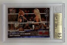 2018 Topps Now WWE BECKY LYNCH Def. Charlotte Flair SmackDown BGS Gem Mint 9.5