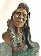Jim Jackson Warrior Bronze Limited Edition Native Indian Bust  Listed Artist
