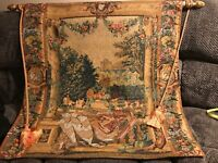 Lovely  Pre-owned Corona Decor Co. 38 X 37 Tapestry On  Rod W/Tassels See Note