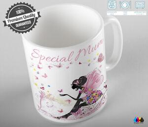 Personalised Fairy Mug Cup Coffee Birthday Gift Aunt Mum Grandma Daughter