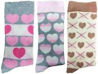 3 Pairs of Ladies JA32 Patterned Cotton Socks by Jennifer Anderton , UK Size 4-8
