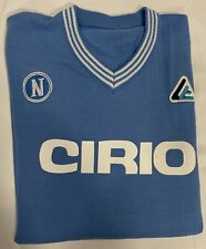 1 maglia bianca NAPOLI CIRIO MARADONA 10 1984/85  Lanetta Vintage Calcio