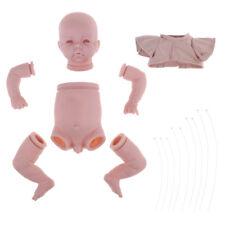 "Handmade DIY 19"" Reborn Kit Silicone Full Limb Body Mold Blank Baby Boy Doll"