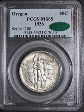 1936 Oregon Commemorative PCGS MS65 CAC
