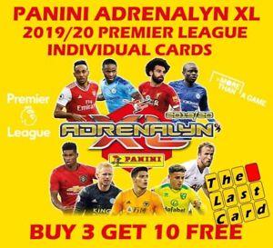 PANINI ADRENALYN XL 2019/20 PREMIER LEAGUE INDIVIDUAL 1-72 BUY 3 GET 10 FREE