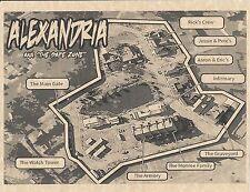 The Walking Dead Map Of Alexandria > Flyer/Poster Prop/Replica