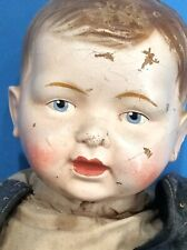 Haunted Zombie Creepy Spooky Antique Composition & Cloth Boy Doll Dismembered