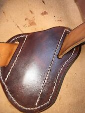 Pancake crossdraw quickdraw Leather Sheath For Buck110/sodbuster lt brown