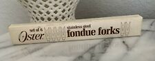 Vintage OSTER Stainless Steel Fondue Forks Set of 6 In Original Box
