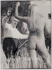 "ARTIST & NUDE MODEL / MALER & AKT MODELL * ""L"" Vintage 60s Outdoors Photo #4"