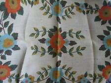 Supreme Burlap Colored Flowers Rug Hooking Burlap Cloth 24x36 Inches #380B