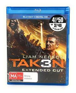 Taken 3 (Blu Ray, 2014) Liam Neeson Extended Cut Region B Free Postage