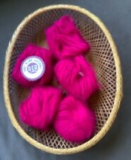 Pure Angora from A.C.A. -5 skeins- Hot Pink Discontinued