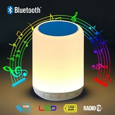 BLUETOOTH SPEAKER LED LAMP WITH FM RADIO AND MICRO SD CARD SLOT TO PLAY MP3