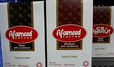 3 boxes ALAMEED Turkish coffee , 8oz/226.5g each. قهوة تركية  Medium or Dark. F