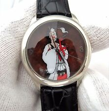 "CRUELLA DEVILLE,Marc Davis""Exclusive ""LE 1745/5000"" UNISEX WATCH,1138,L@@K!"