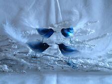 Christbaumschmuck In Form Vogel Farbe Blau Ebay
