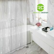 Shower Curtain Clear 100% Waterproof, Eco-Friendly & Anti Bacterial