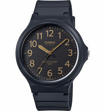 Casio Men's Black Resin Watch, Analog, 50 Meter Water Resistant, MW240-1B2V