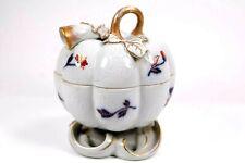 More details for rare antique vista alegre portugal porcelain lidded pot and cover