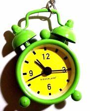 Kikkerland Classic Mini Alarm Mini Bell Green Yellow Clock Keychain Key Chain