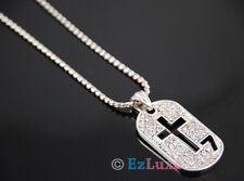 army military medal Cubic CZ Cross 7 Dog Tag Necklace Descendants of the Sun TV