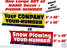 Personal Snow Plow Decals NEW for any Snow Plow Meyer Fisher Western Boss Decal