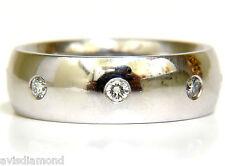 7MM PLATINUM .65CT DIAMOND ETERNITY WIDE BAND RING +