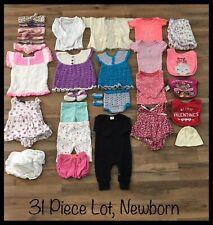 Newborn Girls Clothing Lot, 31 Items, Faded Glory, Circo, Carter's