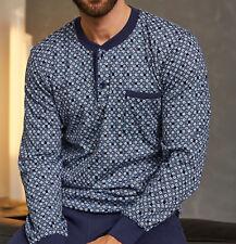 Ringella Schlafanzug Größe Xl/56 Pyjama blau Gepunktet