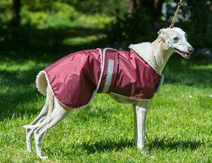 "WHIPPET, LURCHER, DOG WATERPROOF COAT 20"" to 26""  FLEECE OR SIMULATED-SHEEPSKIN,"