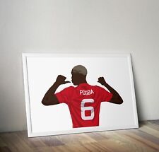 Paul Pogba, Manchester United, Print, Poster, wall art, gift, home decor