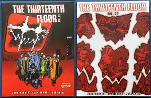 The Thirteenth Floor Vol. 1 & 2  Lot John Wagner Grant Paperback 13th Rebellion