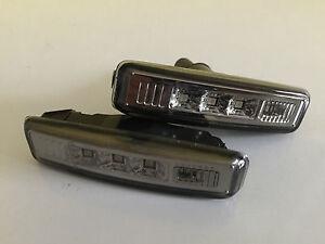 """Klarglas LED Seitenblinker BMW 5-er E39 Limo + Touring """"Smoke""""! Satz, 2 Stück!"""