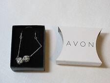 Ladies Womens Avon Sparkle Linear Earrings Silvertone F3360011 NIP;;